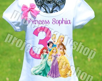 Disney Princesses Birthday Shirt