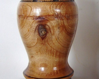 vintage mexican wood candle holder