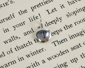 "Sterling Silver Letter  ""T"" Charm"