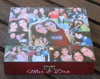 Maid of Honor Photo Collage Keepsake Box, Unique Sister Gift, Personalized Memory Box, Unique Birthday Gift, Best Friends Photo Collage