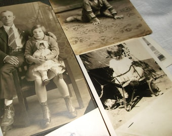 7 Antique black&white Childhood Photos
