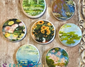 Edible Monet Painting Cupcake, Cookie, Oreo or Drink Toppers - Wafer Paper or Frosting Sheet.
