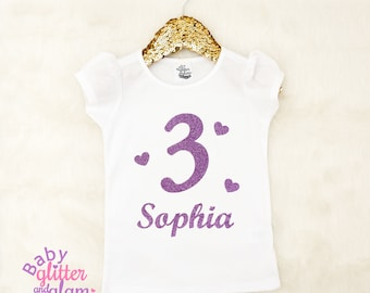 Girl 3 Birthday Shirt, Third Birthday Outfit, Third Birthday Cake Smash, 3rd Birthday Girl Clothes Outfit