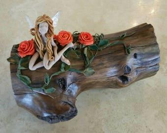 Fire Orange Rose Faerie Box