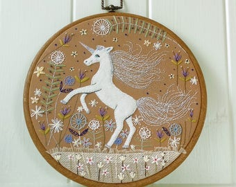 The Dancing Unicorn - Magical Unicorn Embroidery - Magical and Cute
