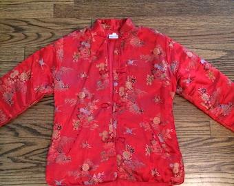 Vintage women's adorable 1980's asian jacket/coat. Size XXS/XS