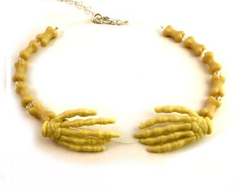 The Literal Choker - Creepy Skeleton Hands Necklace