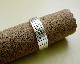 RONRING 5 - Unique Puzzle Rings by PuzzleRingMaker - Sterling Silver or Gold - 5 Bands