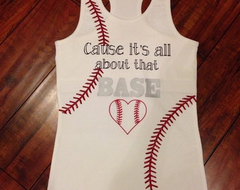 """All About That """"Base""""ball Tank, cute and comfy."""