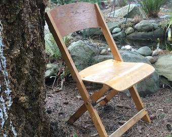 Old school Wooden folding chair