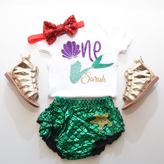 Little Mermaid First Birthday Outfit Under The Sea Outfit