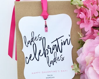 Ladies Celebratin' Ladies Wine & Spirits Tag - 3 pack // Galentine's Day // Leslie Knope // Girlfriends // Galentine's Day Wine Tag // Gift