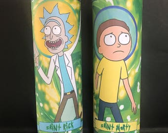 Rick and Morty Devotional Prayer Saint Candles