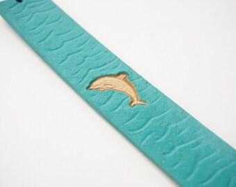 Leather Bookmark - Sea Dolphin