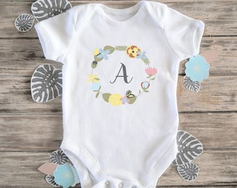 Personalised Floral Baby Bodysuit - Personalized Onesie, Baby Girl Gift, Baby Name, Girls Coming Home Outfit, Baby Gift, Baby Girl Outfit