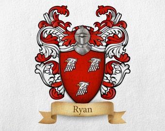 Ryan Family Crest - Print