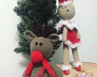 Rudolph the Crochet Reindeer MADE TO ORDER