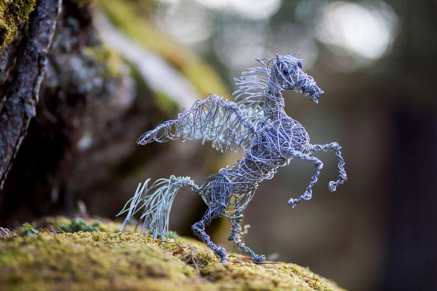 Draht-Tier Pegasus Pferd Pferd Figur Metall Pferd Skulptur