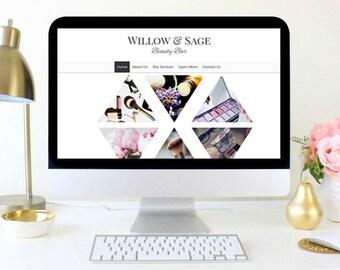 Website Design, Web Design, Custom Website, Chic Website, Beauty Website, makeup website, premade website, small business website