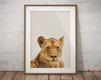 Nursery lion art, Nursery lion print, Nursery print lion, Nursery decor, Lion print, Lioness, Safari nursery, Safari nursery art, Safari art