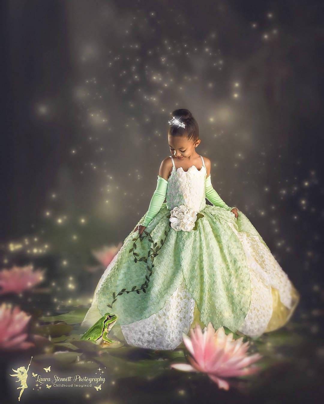Princess Tiana Dress: Tiana Costume Princess And The Frog Gown Tutu Dress