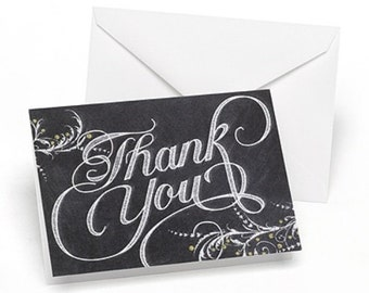 Chalkboard Wedding Thank You Notes (Pack of 50)