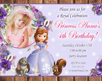 Sofia invitation etsy sale sofia the first birthday invitation stopboris Image collections