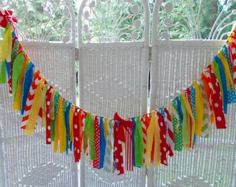 Fabric garland-Primary /Circus Colors