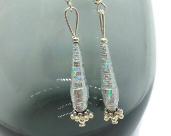 Icicles Paper Bead Earrings
