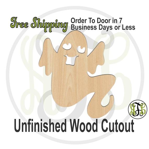 Ghost 10 - 160042- Halloween Cutout, unfinished, wood cutout, wood craft, laser cut out, wood cut out, Door Hanger, spirit, phantom, wooden