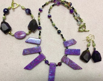 Purple Spears with Amethyst