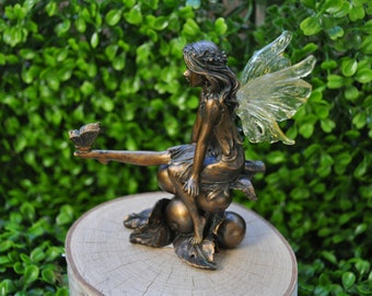 Fairy Gardens Fairy with Butterfly on Foot Garden Supply