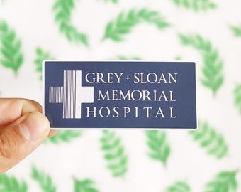 Grey + Sloan Memorial Hospital Sticker - Notebook Laptop Stickers - Friends Stickers - Grey's Anatomy Sticker - Grey's Anatomy Friend Gifts