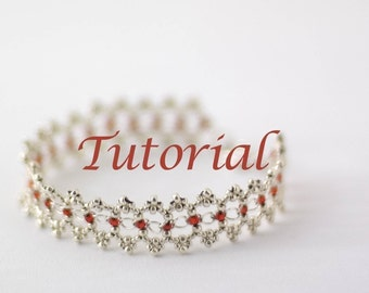 Beaded Bracelet Tutorial Ribbon Lace Digital Download