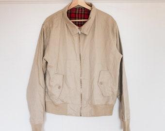 harrington jacket with plaid lining