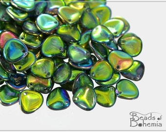Crystal Vitrail Czech Rose Petal Beads 7x8 mm, 50 pcs (8337)