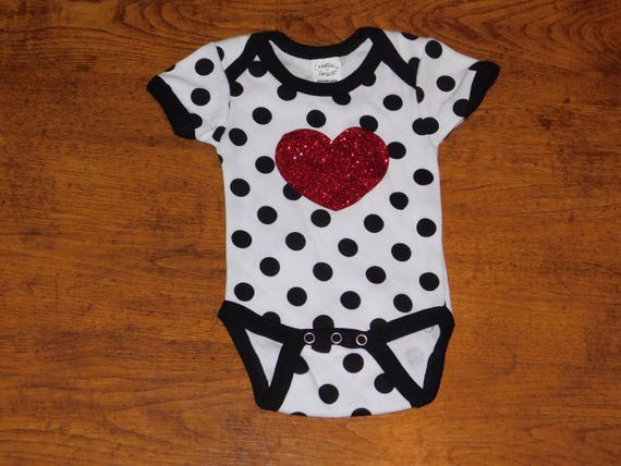Polka dot with glitter heart