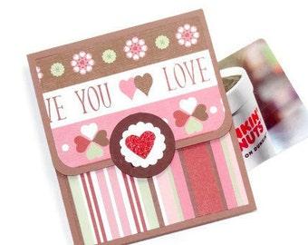 Valentine Gift Card Holder, Money Holder, Boyfriend, Girlfriend, Handmade Money Gift Card Holder, Valentine's Day, Love Money Card, Handmade