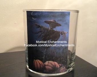 Halloween Scarecrow votive-tea light holder