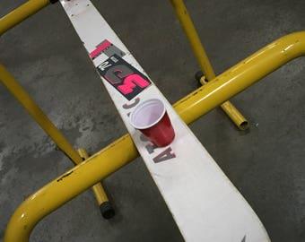 3 person shotski shot ski upcycled reclaimed
