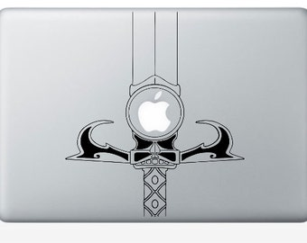 Fiction art inspired by Thundercats Sword of Omens Macbook laptop vinyl decal sticker