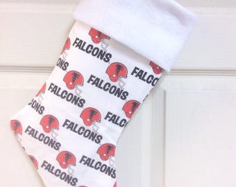"Atlanta Falcons Christmas Stocking with free name embroidered, 18"" X 8"""
