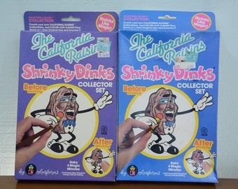 1988 NIB California Raisins Shrinky Dinks Toy - Collector's Set by Colorforms Set #1667 Stocking Stuffer
