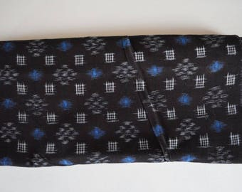 Kasuri cotton, indigo blue, vintage aizome Japanese fabric, 5 meters