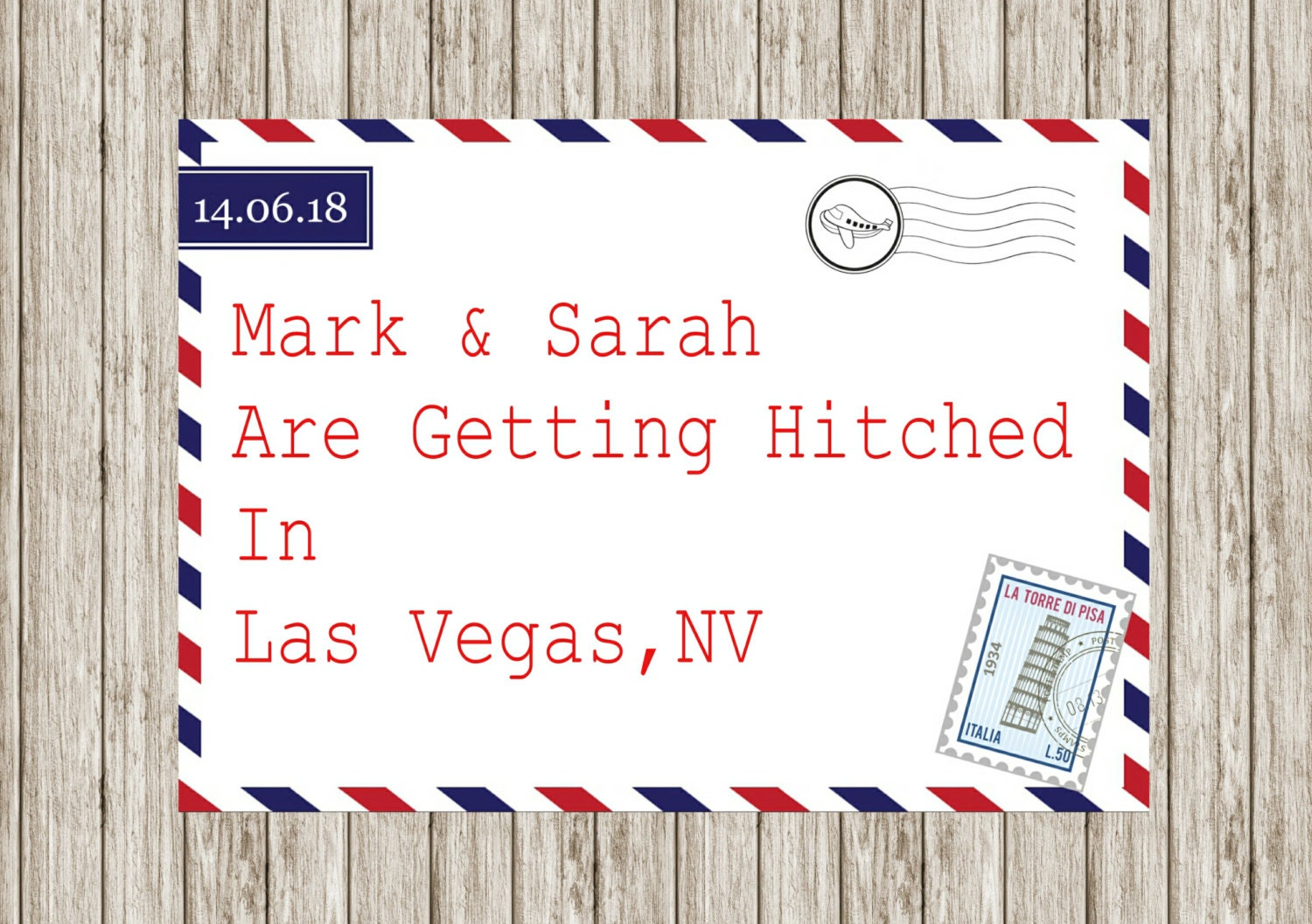 Air mail wedding invitation, Printable wedding invitations, Abroad ...