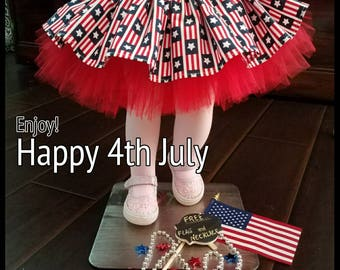 4th July headband and Skirt ( FREE FLAG and NECKLACE). Fourth of July, baby 4th july  outfit, Girls 4th july tutus, baby 4th July headband