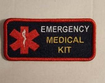 Emergency Medical Kit - First Aid Bag - Blue Embroidered Sew On Patch
