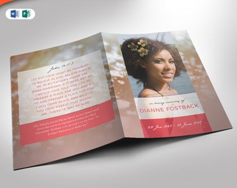 Meadow Funeral Program Publisher and Word Template (12 Pages) 5.5x8.5 and 8.5x11