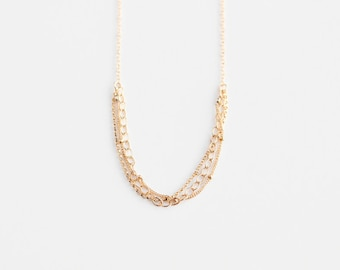 Multi Chain Necklace - 14k Gold Filled or Sterling Silver - James Necklace