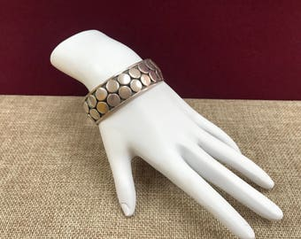 Vintage 925  Mexico Solid  Sterling Silver   Cuff  Bracelet!!!!   Free US Shipping!!!